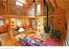 Since 1923 Ward Cedar Log Homes has been providing custom log homes and standard designs. View detailed log home plans & kits and build your next home with Ward. Log Home Plans, House Plans, Cedar Log, Timber House, Next At Home, Sitting Area, Log Homes, Great Rooms, Cozy
