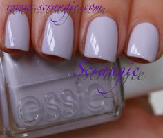 essie- perfect creme with the most subtle shimmer adding it to my list