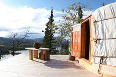 Traveling Light B&B Mongolian Yurt - Yurts for Rent in Whitehorse