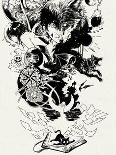 The Most Beautiful Black Pen Art By Gabriel Picolo