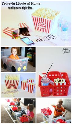 Ideas for a Family Movie Night at Home   drive-in movie theater at home   at home movie night ideas