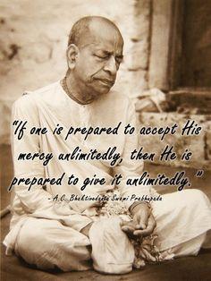 God's mercy is unlimited and unconditional Radha Krishna Pictures, Radha Krishna Love, Shree Krishna, Radhe Krishna, Lord Krishna, Religious Quotes, Spiritual Quotes, Shiva Hindu, Srila Prabhupada