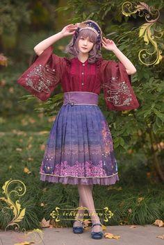 IchigoMiko -Fantastic Night By The River of Sakura- Wa Lolita Skirt (Long Version)