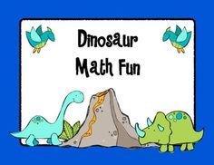This product has 11 different math resources and activities to use with your dinosaur unit.