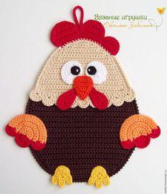 Crochet Applique Patterns Free, Crochet Flower Patterns, Crochet Flowers, Crochet Kitchen, Crochet Home, Crochet Gifts, Crochet Hot Pads, Quick Crochet, Freeform Crochet