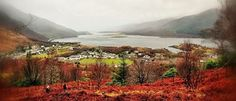 Looking up to Ballachulish Brige