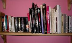 My expanding collection of Marilyn Monroe books