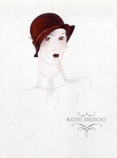 Rose Descat (Millinery) 1929 Vintage advert Women's fashion | Hprints.com