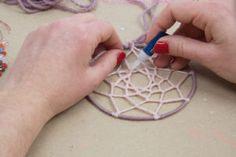 Lana, Triangle, Education, Crochet Dreamcatcher, Amor, Hand Embroidery, Fabrics, Ornaments, Furniture