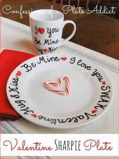 DIY Sharpie Plate and the Perfect Little Valentine Gift