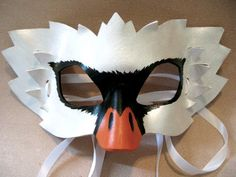 Swan Leather Mask Masquerade Mask Halloween by LovelyLiddy