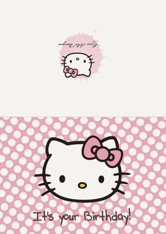 Rina Loves: Freebies Free Printable Stationery, Free Printables, Hello Kitty, It's Your Birthday, Note Cards, Fictional Characters, Index Cards, Free Printable