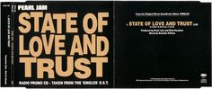 Pearl Jam Discography - State Of Love And Trust - Details: 5'' CD - Slimline - UK - www.PjCollectors.com