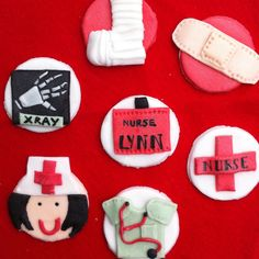 Nurse themed cupcake toppers