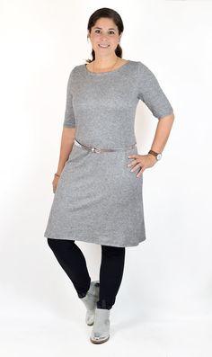 Ebook / Schnittmuster lillesol women No.22 Jerseykleid mit Uboot-Ausschnitt