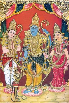 A humble collection of readings on spirituality, literature, music, and art. Mysore Painting, Tanjore Painting, Pichwai Paintings, Indian Art Paintings, Lord Rama Images, Hindu Statues, Wonder Art, Sri Rama, Lord Krishna Wallpapers