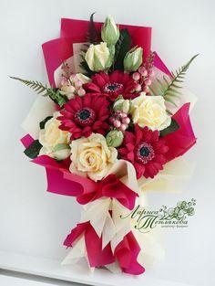 Beautiful Bouquet Of Flowers, Unique Flowers, Beautiful Flowers, Flower Shop Design, Flower Designs, Family Flowers, Unique Flower Arrangements, How To Wrap Flowers, Arte Floral
