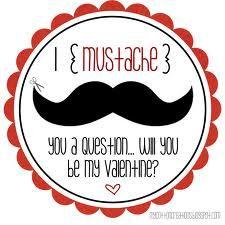 valentine printables - mustache