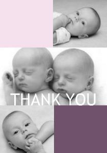 Mixbook Twins Color Blocking Baby Thank You Baby Thank You Cards, First Order, Get Up, Your Cards, Color Blocking, Twins, Face, Gemini, Faces