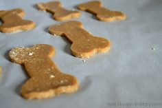 waiting to be baked - three ingredient dog treats