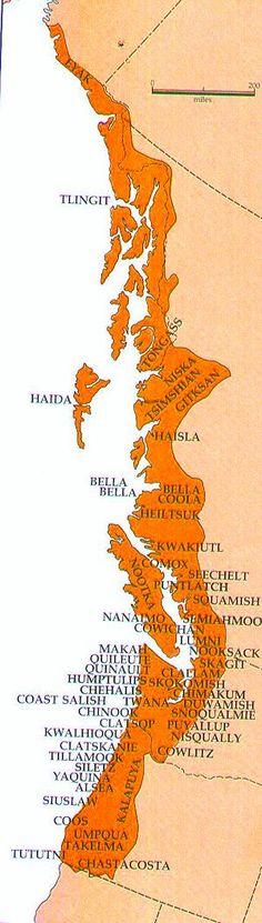 Northwest Coast Tribes Map