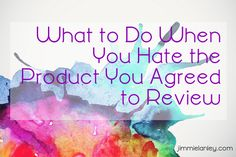 It has happened to most bloggers at some point. You agree to review a product maybe in exchange for compensation or in hopes of earning affiliate commissions. But after you use the item for a few d...