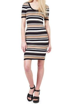 Game Day Dresses: Striped Knitted Dress by Miss Selfridge