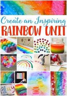 Inspire your students with these awesome rainbow theme learning activities! You will find activities for learning about science, math, literacy, art, sensory and more! Use these great rainbow printables for a rainbow unit study during St. Rainbow Learning, Rainbow Activities, Preschool Learning Activities, Spring Activities, Alphabet Activities, Color Activities, Preschool Activities, Kids Learning, Preschool Kindergarten