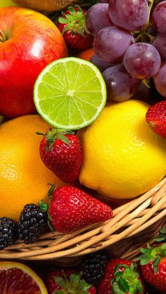 Fresh fruit background H5