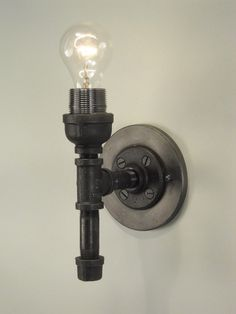 Pipe sconces