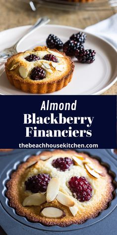 Rich almond cake studded with plump, juicy blackberries, these Almond Blackberry Financiers are super simple to make and a dessert for someone special! Blackberry Dessert Recipes, Delicious Desserts, Cupcake Recipes, Financier Cake, Apple Slab Pie, Mothers Day Desserts, Eat Seasonal, Small Cake, Almond Cakes