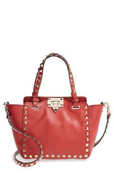 e5316eb757a9 Valentino  Micro Mini Rockstud  Leather Tote
