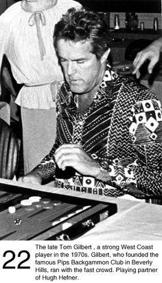 Image result for backgammon hugh hefner tom gilbert