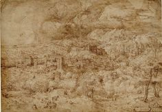 Landscape with a fortified town by @artistbruegel #northernrenaissance