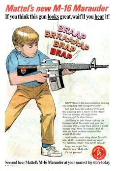 Mattel toy gun Marauder ad poster 13 x 19 GIclee Print Old Advertisements, Retro Advertising, Retro Ads, Vintage Ads, Vintage Posters, Vintage Stuff, 1950s Ads, Creepy Vintage, 1960s Toys