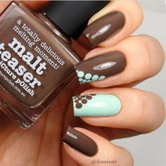 77 Trendy Brown Nail Art Designs and Ideas : 77 Trendy Brown Nail Art Designs and Ideas Fancy Nails, Diy Nails, Swag Nails, Cute Nails, Pretty Nails, Brown Nail Art, Brown Nails, Uñas Color Cafe, Acryl Nails