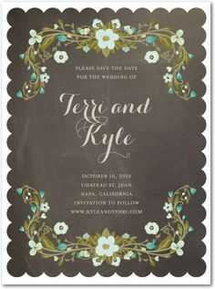 Detailed Delight - Signature White Save the Date Cards in Creamsicle or Marigold | Jennifer Raichman