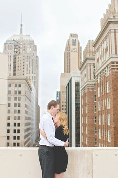 Classy Rooftop Engagement Photos | Oklahoma City | OKC | Mary O Photography