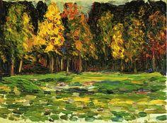 Forest edge via Wassily Kandinsky