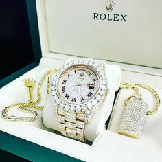 An absolute bust down icy beast! Roman Rolex Day-Date! DM for more information on this beast! An absolute bust down icy beast! Roman Rolex Day-Date! DM for more information on this beast! Rolex Day Date, Stylish Watches, Luxury Watches For Men, Cheap Watches, Gold Rolex, Diamond Rolex, Diamond Watches, Swiss Army Watches, Expensive Watches