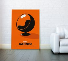 Large canvas poster Mid century modern art by ReStyleGraphic
