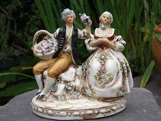 porcelain figures group.
