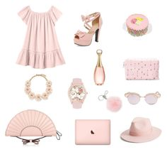 """""""by nan04"""" by nan04-11 ❤ liked on Polyvore featuring Rebecca Taylor, Christian Dior, Le Specs, Lack of Color, Michael Kors, Jessica Carlyle, J.Crew and RED Valentino"""