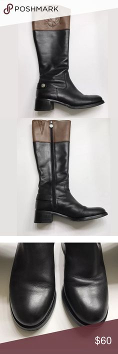 Franco Sarto Chipper Riding Boots 5.5 • Size US 5.5 EUR 36.5  • Mid calf  • Leather upper  • Chipper Franco Sarto Shoes Heeled Boots