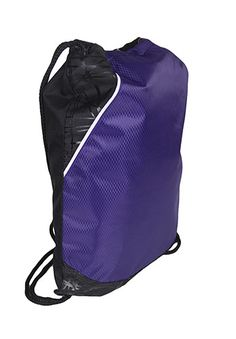 Purple and Black Cinch Backpack