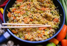 Vegetanie: Ryż z warzywami, szybko i smacznie.
