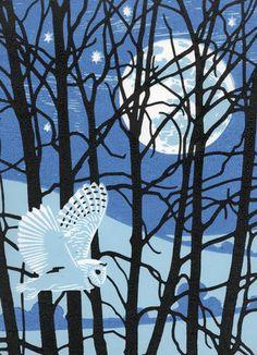 Full Moon Owl - Nick Wonham (Printmaker)
