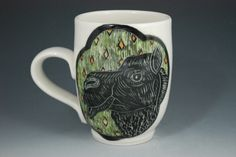 Available in my Big Cartel shop! Camel mug made by Rebecca A. Grant Ceramics.