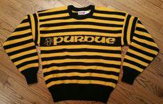 Vintage 1984 Purdue Boilermakers Cliff Engle Wool Sweater Men Large  sports Rare  CliffEngle  PurdueBoilermakers 5965ea74ef2d