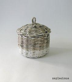 Koszyk Gray&White w zapleciona na DaWanda.com